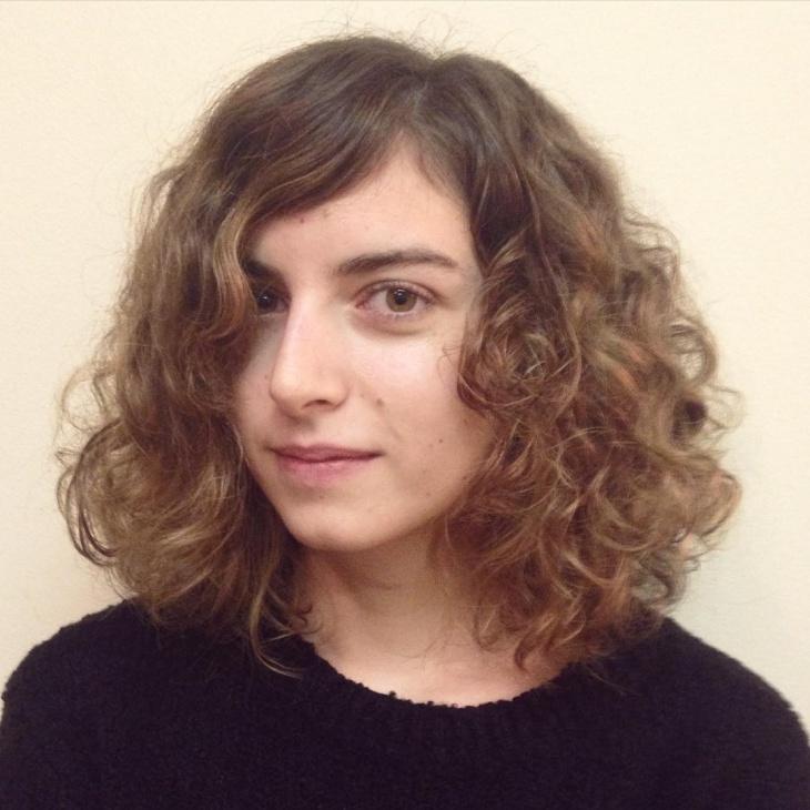 natural curly bob hairstyle