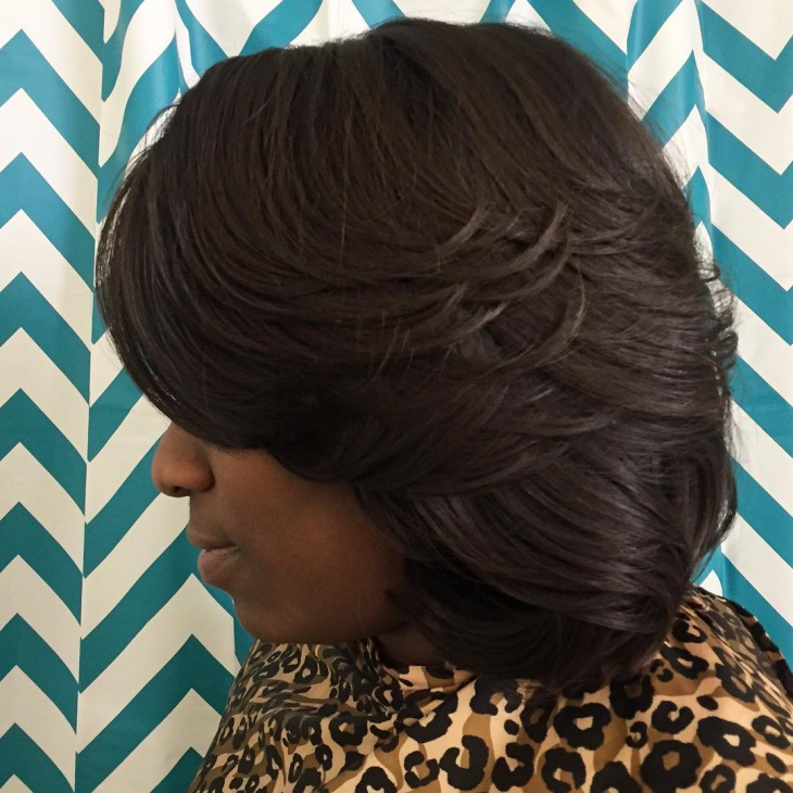 partial weave bob hairstyle
