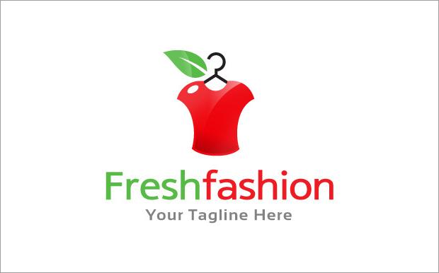 fresh fashion logo template
