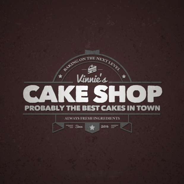 Cake Shop Retro Logo Design