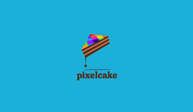 Pixel Cake Logo Design