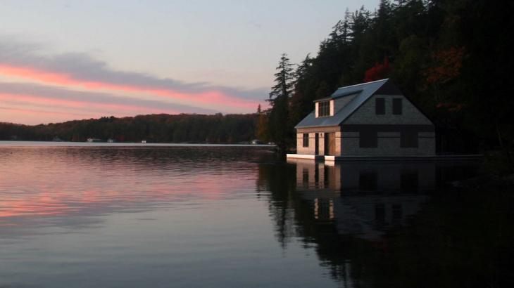 small boat house idea