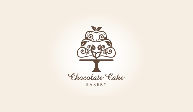 Delicious Chocolate Cake Logo