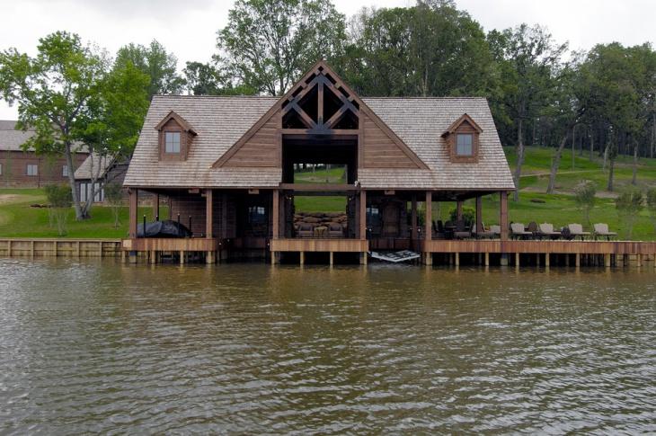 single slip boat house design