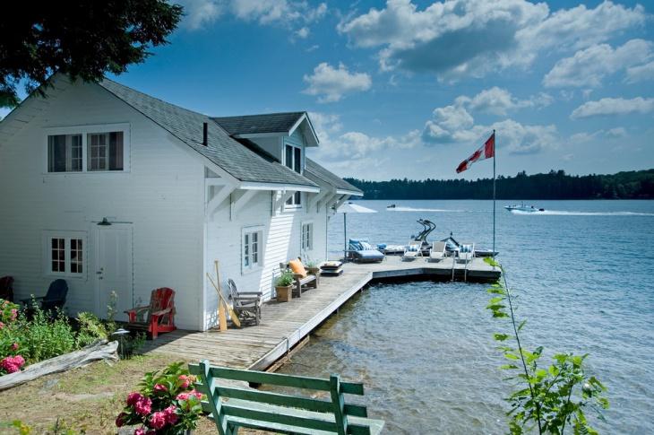 rustic modern boat house