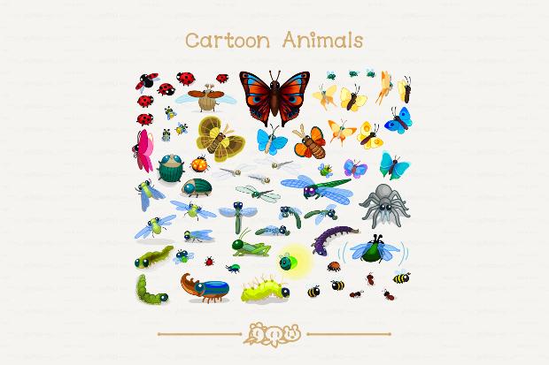 insect cartoon vector art