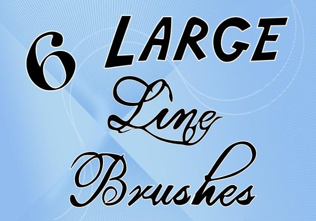 large line brushes