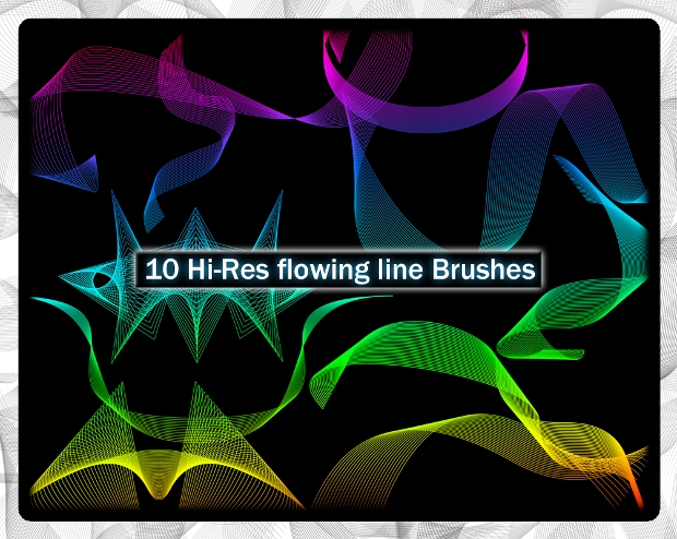 High Resolution Flowing Line Brushes