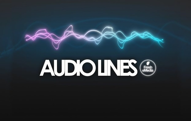 Audio Lines Brushes for Photoshop