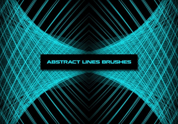 abstract lines brushes set