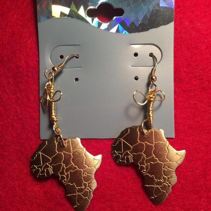 african print sacred earrings