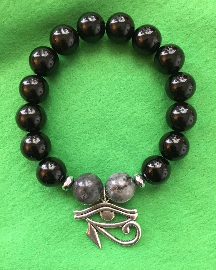 black crystal sacred jewelry