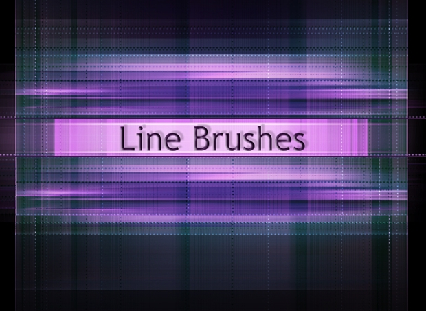 colorful lines brushes