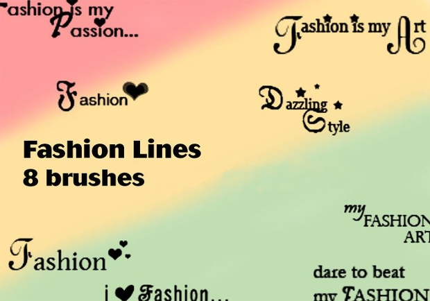 fashion line brush set