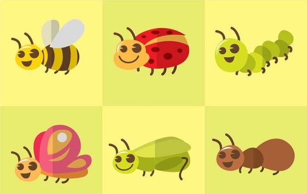 Flat Design Insect Vector