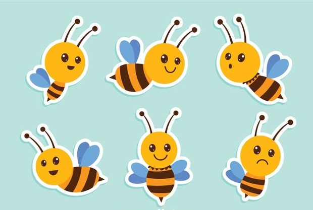 bee insect png vector