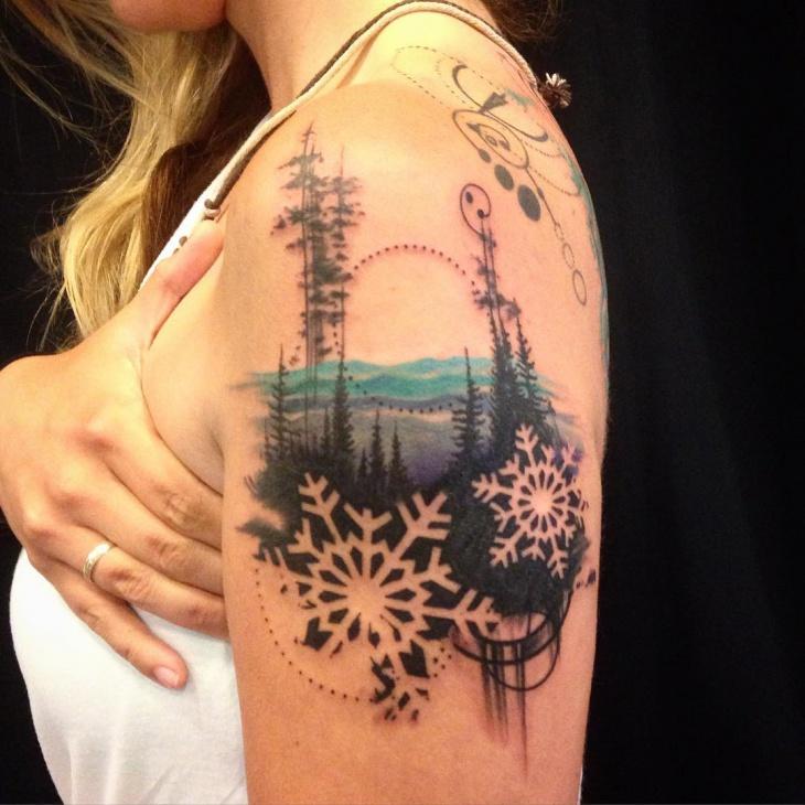 snowboard tattoo for women