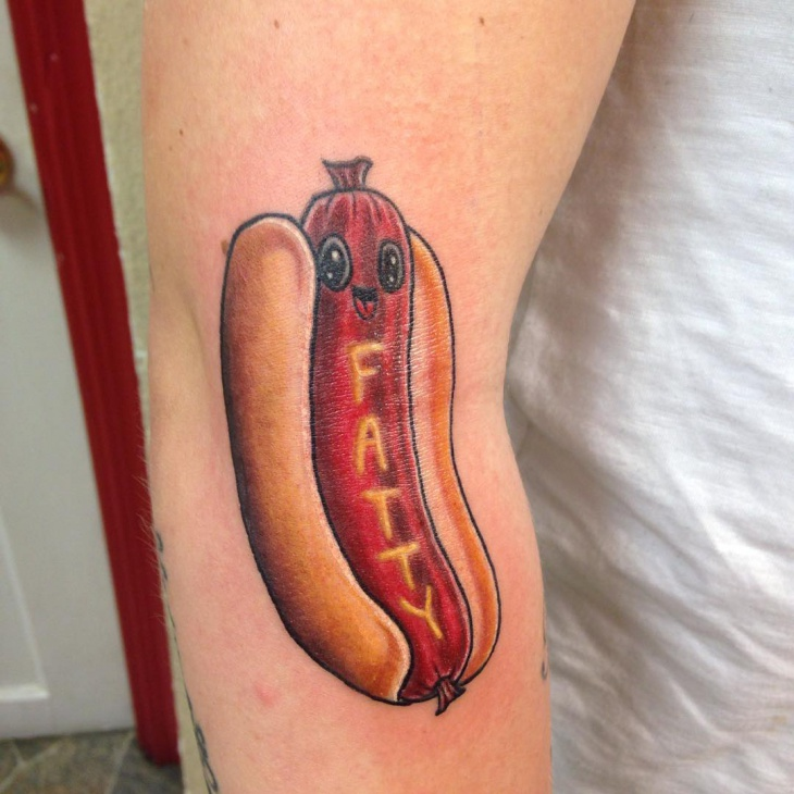 Hot Dog Tattoo for Men