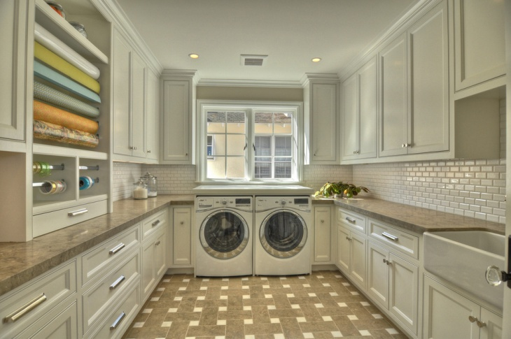 Laundry Room with FloorTile