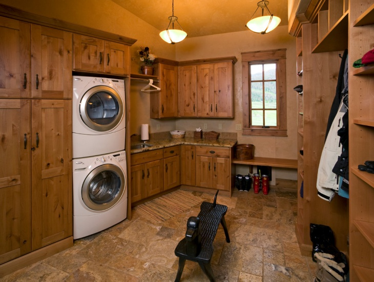 Oak Laundry Room Remodel