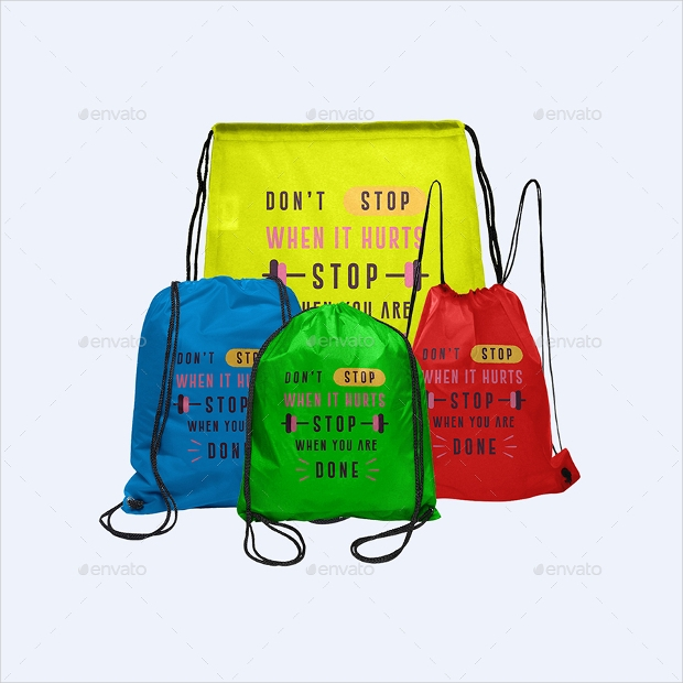 Colorful Bag PSD Mockup