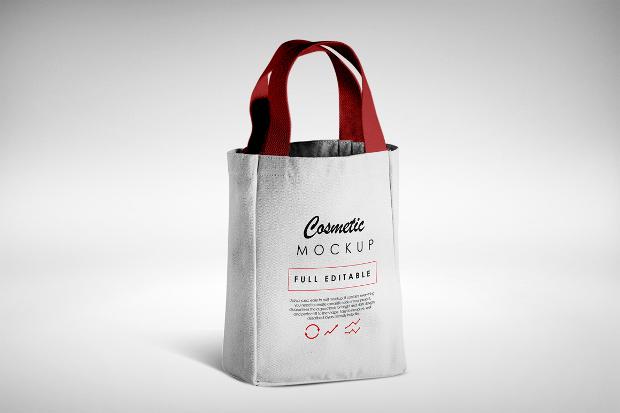wine bottle bag mockup