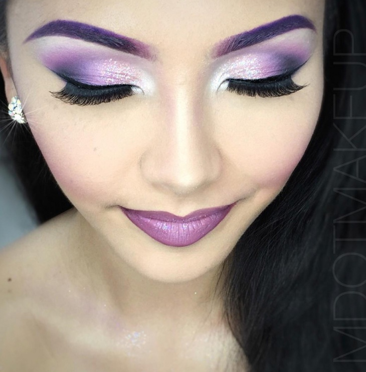 Purple Eye Shadow Makeover