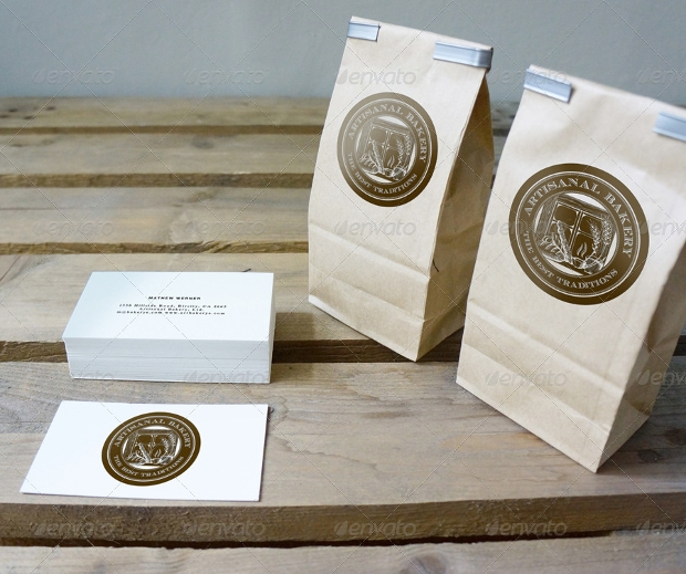 High Quality Brown Bag Mockup
