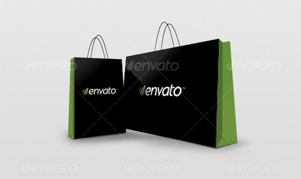 Layered Shopping Bag Mockup Design