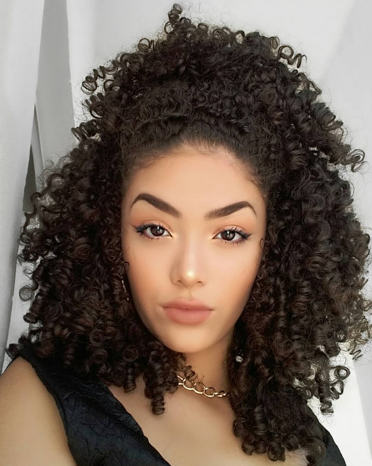 Braided Curly Weave Hairstyle