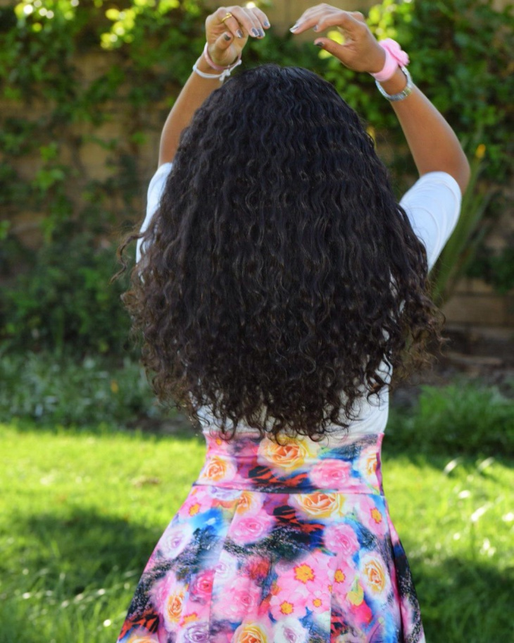 Long Black Curly Weave Hair