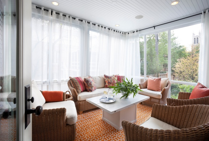 sunroom curtains idea