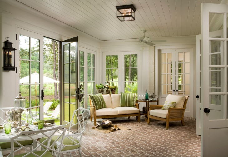 sunroom flooring design