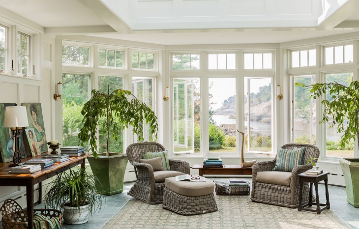 traditional sunroom porch idea