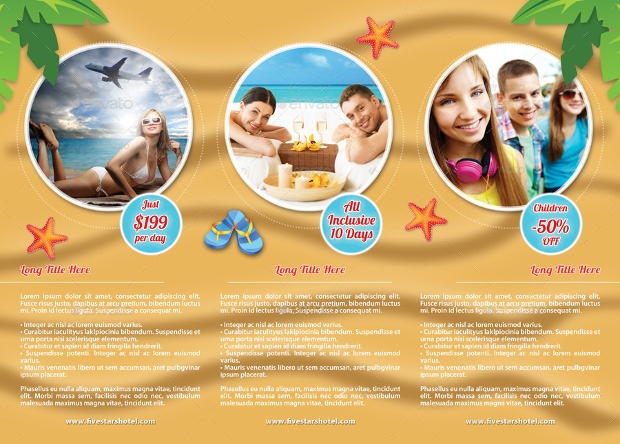 Summer Travel Vacation Brochure