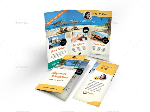 Vacation Trifold Brochure