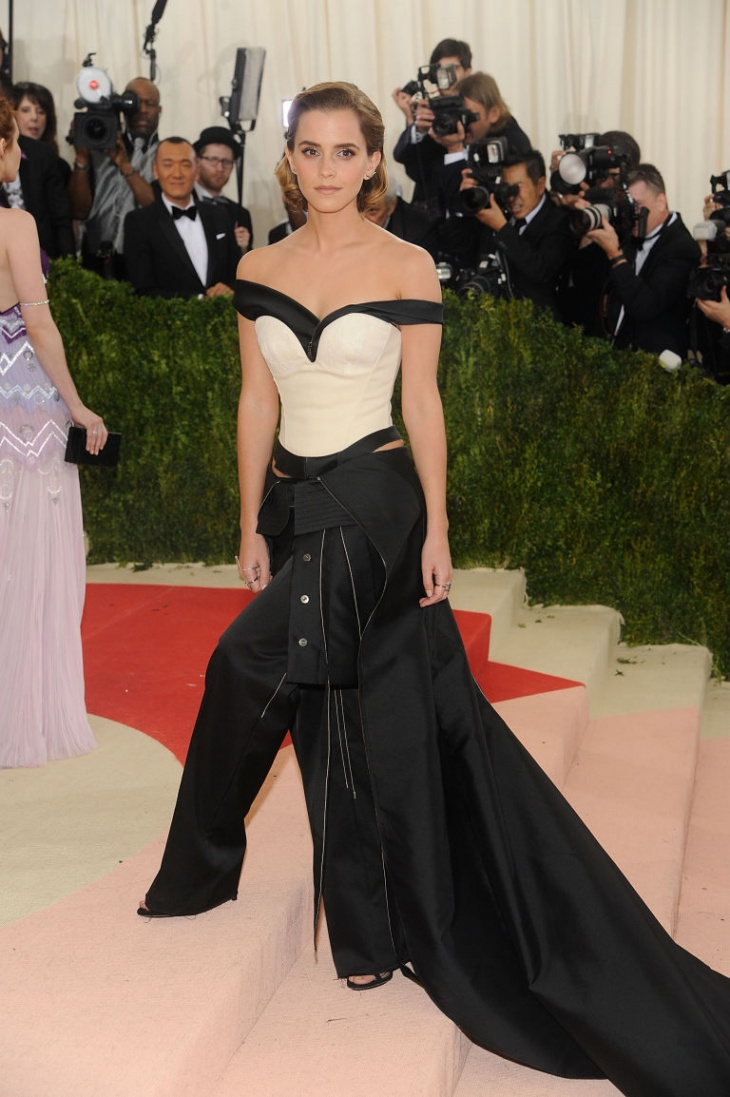 emma watson plastic recycled gown
