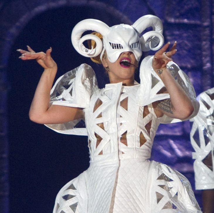 Lady Gaga Paper Recycled Gown