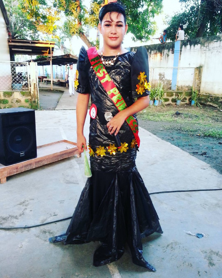 Garbage Bag Recycled Gown