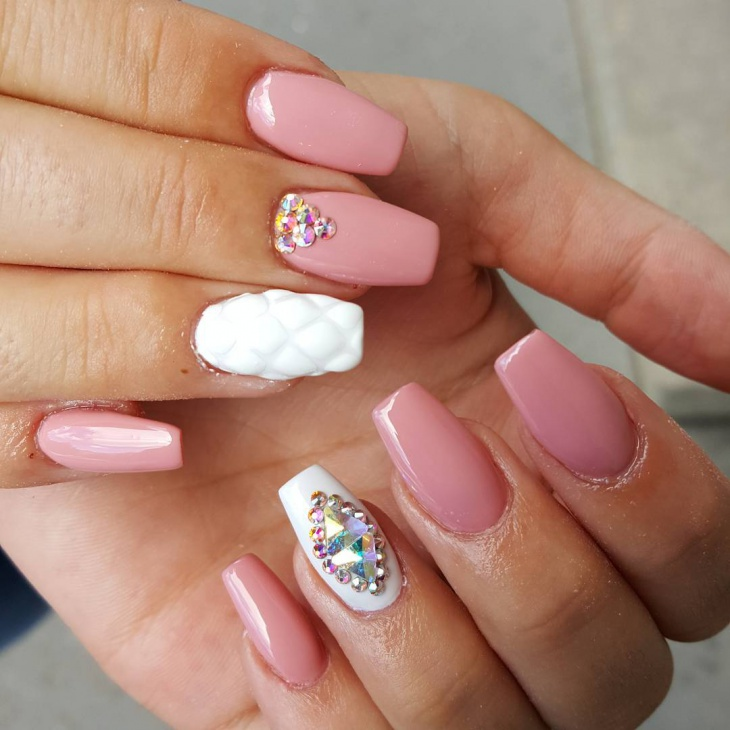 swarovski crystal nail art idea