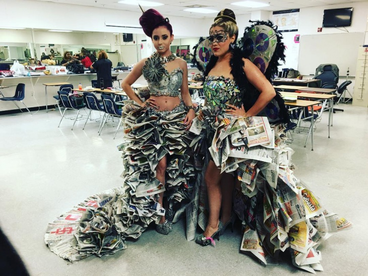 Unique Newspaper Recycle Dress