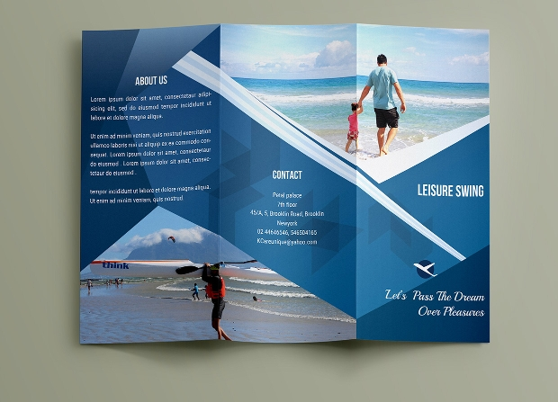 Travelling Trifold Brochure Template