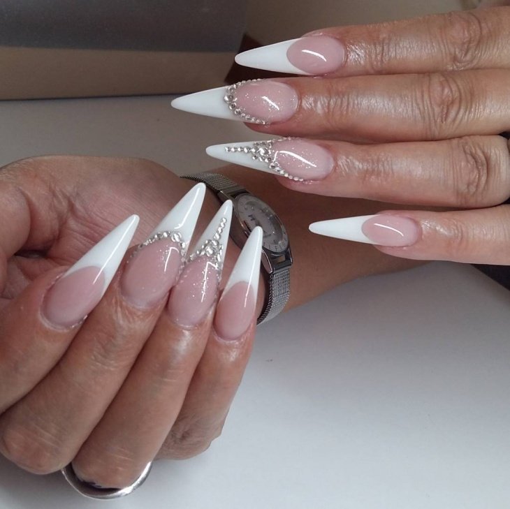 long pointy nail design