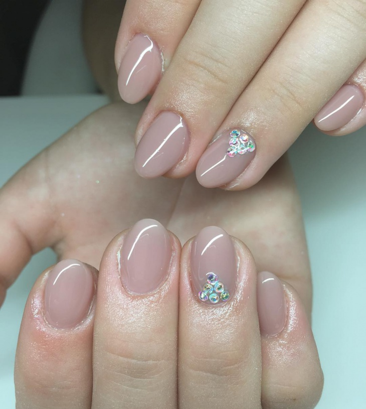 classic crystal nail art