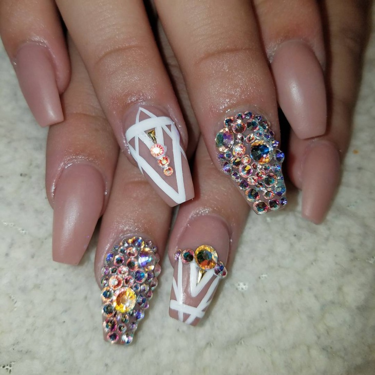 gorgeous medium nail design