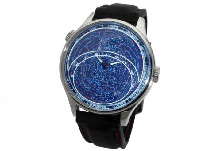 astronomical wrist watch