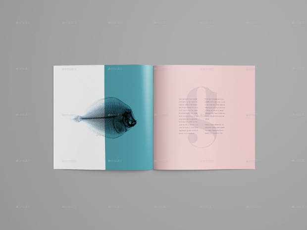 Photoshop PSD Square Brochure Mockup