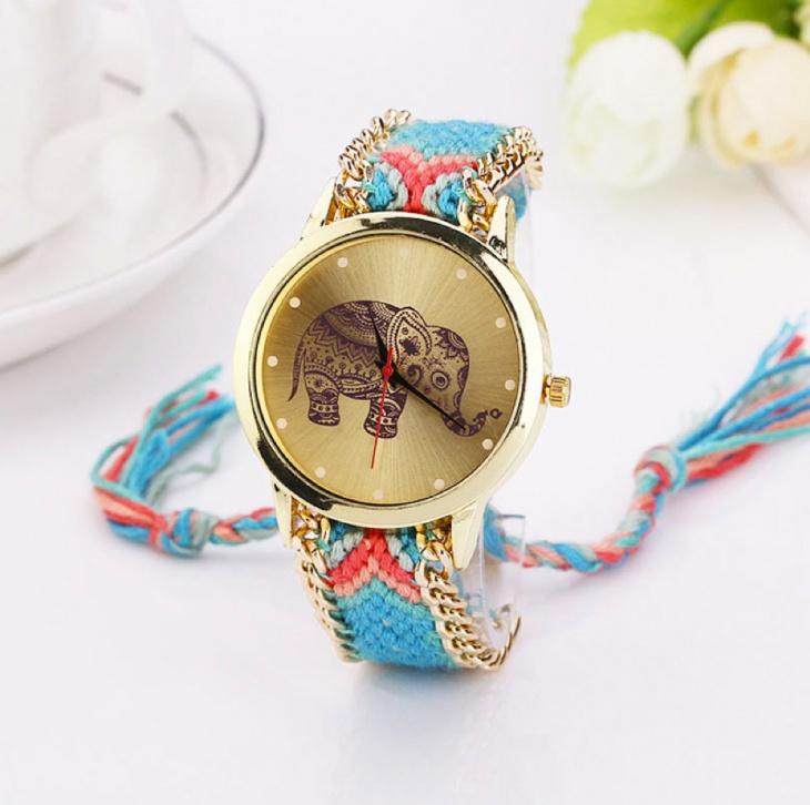 woven braided watch design