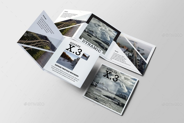 20 square brochure mockups free editable psd ai for Brochure design mockup