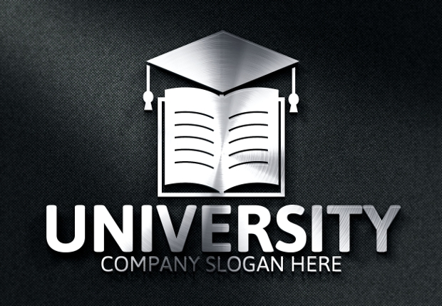 flat university logo design